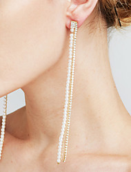 Mulheres Brincos Compridos Imitação de Pérola Imitação de Diamante Sexy Moda Personalizado Euramerican Jóias filme bijuterias Cobre
