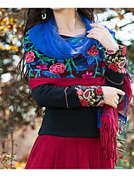 Women's Polyester Rectangle Print Winter