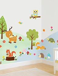 Животные Цветочные мотивы/ботанический Мультипликация Наклейки Простые наклейки Декоративные наклейки на стены Свадебные наклейки материал