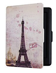 Magnetic Auto Sleep Slim Cover Case Hard Shell For KOBO Touch 2.0   Eiffel Tower 6.0inch