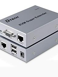 DTech VGA USB Type B Switch/Extender VGA USB Type B to VGA USB 2.0 RJ45 Switch Female - Female Extend up to 300M