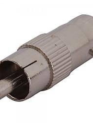 10 шт. Bnc female to rca мужской коаксиальный кабель адаптер разъем штекер cctv камера