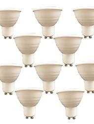 7W Spot LED 6 SMD 3030 580 lm Blanc Chaud Blanc V 10 pièces GU10