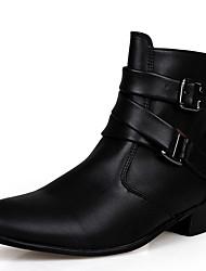 Для мужчин Ботинки Удобная обувь Ботильоны Модная обувь Зимние сапоги Кожа Ткань Осень Зима Атлетический Повседневные ШнуровкаНа плоской