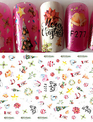1pcs Beautiful Christmas Design Nail Art 3D Sticker Nail Beauty Decoration Accessories DIY Art Tip F277