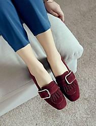 Women's Heels Comfort Nubuck leather PU Summer Casual Comfort Green Black 4in-4 3/4in