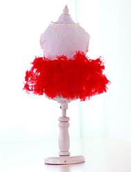 Chien Robe Vêtements pour Chien Décontracté / Quotidien Princesse Jaune Rouge Vert Rose