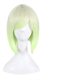 Bursts of Europe and America Anime Wig Green  Gradient Bobo Wig Short Hair 10inch