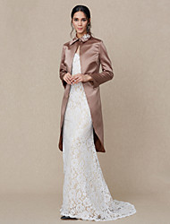 Women's Wrap Coats/Jackets Satin Wedding Party/ Evening Rhinestone