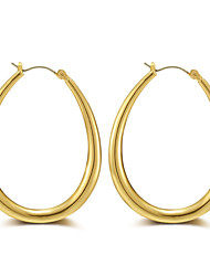 Women's Hoop Earrings Jewelry Tassel Gothic Luxury Simple Style Oversized Punk Hip-Hop Rose Gold Alloy Circle Geometric Jewelry For Daily