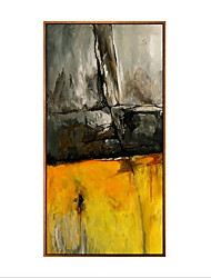 Abstract Framed Oil Painting Wall Art,Wood Material With Frame For Home Decoration Frame Art Living Room Dining Room 1 Piece