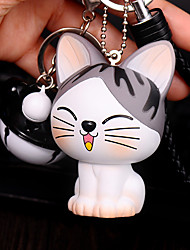 Bag / Phone /  Keychain Charms Cat Cartoon Toy Phone Strap Ball Bell PVC