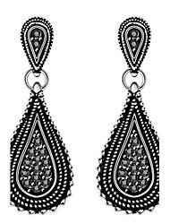 Mujer Pendientes colgantes Zirconia Cúbica Obsidiana Negro Gema Diseño Básico Hipoalergénico Estilo lindo Gótico Estilo Simple Clásico