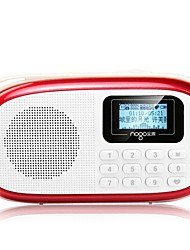 Q15 Radio portable Radio FM Enceinte interne Carte SDWorld ReceiverBleu de minuit Fuchsia Rouge Rose Bleu clair