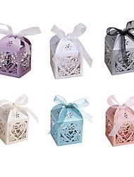 10pcs / set влюбленность сердца стороны сердца венчания полая медведь любит подарки конфеты коробки