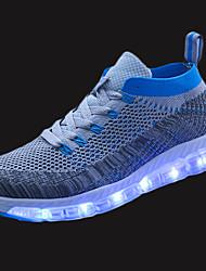 Homme Chaussures d'Athlétisme Confort Polyuréthane Printemps Automne Athlétique Marche Lacet LED Talon PlatNoir Gris Bleu marine Rouge