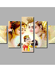 Fashion HD Printed Canvas Painting Elephant Head Livingroom Wall Art Printed Poster for Home Decor Art Buddha Murals 5panels Frameless