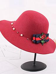 Для женщин Шапки Цветы Панама Федора,Осень Зима Вискоза С принтом Цветочный
