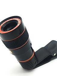 Объектив камеры телескопа hd 8x оптический зум объектив камеры телескопа для мобильного телефона с универсальным клипом, подходящим для