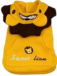 Chien Costume Vêtements pour Chien Cosplay Animal Jaune