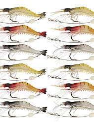 """12 pcs Cebos Señuelos blandos / Vinilos Jerkbaits Cangrejos / Camarón g/Onza,90 mm/3-1/2"""" pulgada,Silicona Pesca de Mar Pesca a la mosca"""