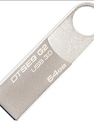 Kingston 64gb u disco usb3.0 dtse9g2 metal plata velocidad de lectura 100mb / s