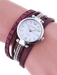 Mujer Reloj de Moda Reloj Pulsera Reloj creativo único Simulado Diamante Reloj Chino Cuarzo La imitación de diamante PU Banda Encanto