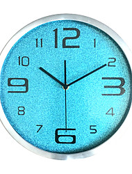 Modern/Contemporary Casual Family Wall Clock,Round Glass Indoor/Outdoor Indoor Outdoor Clock