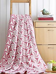 Tricoté Feuille Mélangé polyester/coton couvertures