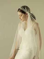 Sheer Soft Wedding Bridal Veil One-tier Fingertip Veils Cut Edge Tulle Ivory Juliet Cap Style Art Deco Veil Cap veil