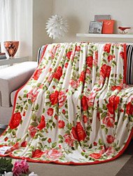 Coral fleece Floral Other Blankets