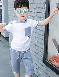 Boys' Geometic Sets,Cotton Summer Clothing Set