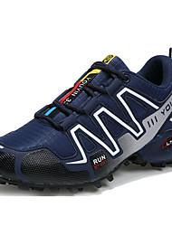 Hombre Zapatillas de Atletismo Confort Suelas con luz Tul Verano Otoño Deportivo Running Tacón Plano Azul Oscuro Gris Negro/Rojo Plano