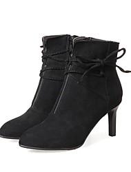Women's Heels Fashion Boots Synthetic Microfiber PU Fall Winter Wedding Casual Office & Career Party & Evening Dress Stiletto HeelKhaki