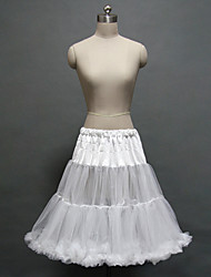 Women's Wedding / Party Underskirt Slips A-Line Slip / Ball Gown Slip Knee-Length Polyester / Tulle Petticoats White Tutu