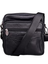 Men Bags All Seasons Cowhide Shoulder Bag with for Casual Outdoor Office & Career Black Brown