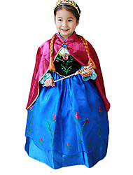 Cosplay Costumes Party Costume Princess Fairytale Festival/Holiday Halloween Costumes Patchwork Dress ShawlHalloween Christmas Children's