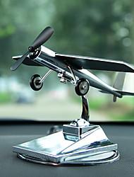 Diy ornements automobiles ornements avion solaire voiture créative avion modèle voiture pendentif&Ornements en métal