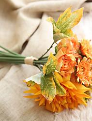 1 Branch Plastic Plants Tabletop Flower Artificial Flowers Home Decoration Wedding Supplies