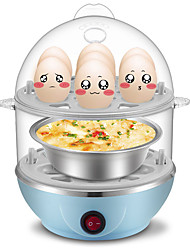 Home Multi - Functional Double - Layer Egg Boilers Steamer Steamed Bread Egg Spoon Machine Automatic Power Off Anti - Dry