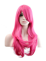 Women Synthetic Wig Capless Long Natural Wave Pink+Red Natural Wig Costume Wigs