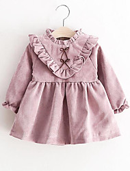 Baby Solid Dress,Cotton Spring/Fall-