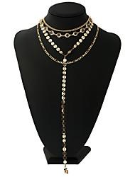 Femme Pendentif de collier Colliers chaînes Alliage Mode Personnalisé Pierre Bijoux Pour Rendez-vous Plein Air Soirée