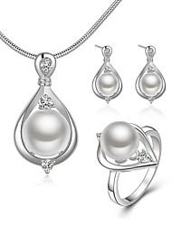 Damen Ohrstecker Halskette Ring Imitierte Perlen Modisch Künstliche Perle Tropfen Für Hochzeit Alltag Normal Hochzeitsgeschenke