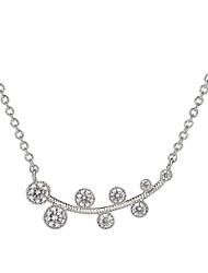 Жен. Ожерелья с подвесками В форме листа Стерлинговое серебро Циркон Позолота Базовый дизайн Мода Бижутерия НазначениеСвадьба Для