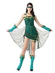 Una Sola Pieza/Vestidos Cuento de Hadas Cosplay Festival/Celebración Disfraces de Halloween Cosecha Other Vestidos Mangas Delantal Máscara