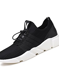 Running Shoes Men's Athletic Shoes Comfort Breathable Mesh Fabric Tulle Fall Winter Athletic Outdoor  Comfort Lace-up Flat Heel Gray Black Flat