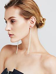 Women's Drop Earrings Imitation Pearl Imitation Diamond Sexy Fashion Personalized Euramerican Movie Jewelry Copper Line Jewelry For
