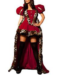 Fantasias de Cosplay Festa a Fantasia Princesa Conto de Fadas Festival/Celebração Trajes da Noite das Bruxas Vermelho PatchworkVestido