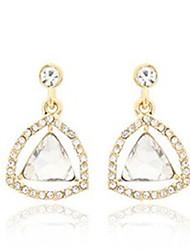 Women's Fashion Crystal Diamonds Triangle Pendant Earrings